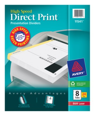 Direct Print High Speed Presentation Dividers 11541