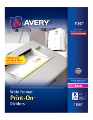 Avery® Wide Format Print-On™ Dividers 11567, Packaging Image