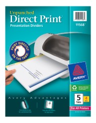 Avery Direct Print Desktop Easy Presentation Dividers 11568