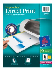 Avery Direct Print Desktop Easy Presentation Dividers 11569