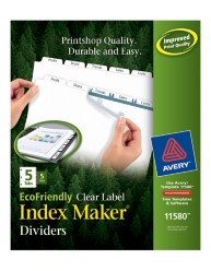 Avery® EcoFriendly  Index Maker® Clear Label Dividers 11580, Packaging image