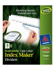 Avery® EcoFriendly Index Maker® Clear Label Dividers 11581, packaging Image