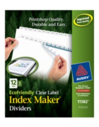 Avery® EcoFriendly Index Maker® Clear Label Dividers 11582, Packaging Image