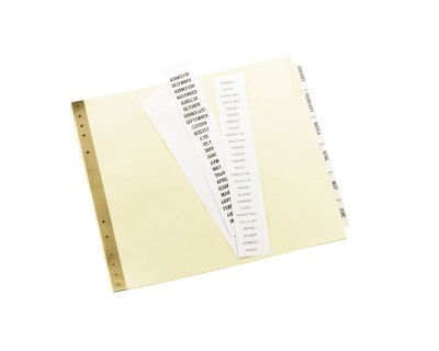 Data Binder Tab Dividers 11730