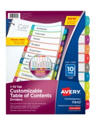 Avery® Customizable Table of Contents Dividers 11842, Packaging Image