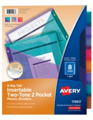 Avery Big Tab Two-Tone Insertable Plastic Dividers