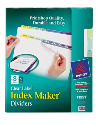 Index Maker Clear Label Dividers with Contemporary Color Tabs 11991