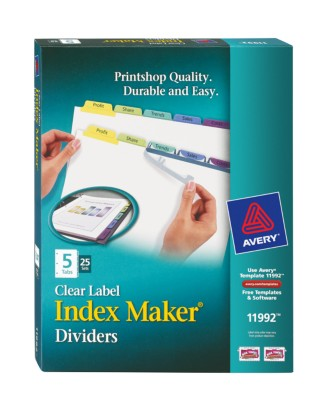 Index Maker Clear Label Dividers with Contemporary Color Tabs 11992