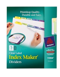 Avery® Index Maker® Clear Label Dividers 11994, Packaging Image