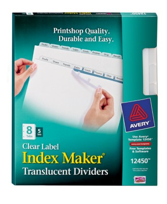 Index Maker Clear Label Translucent Dividers 12450