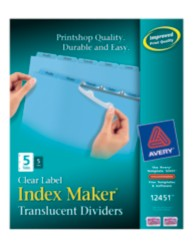 Index Maker Clear Label Translucent Dividers 12451 Packaging Image