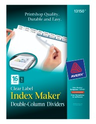Avery® Index Maker® Double-Column Clear Label Dividers 13150, Packaging  Image
