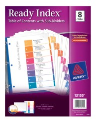 Avery® Ready Index® Table of Contents Dividers with Sub-Dividers 13155, Packaging  Image