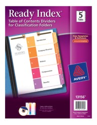 Avery® Ready Index® Table of Contents Dividers for Classification Folders 13156, Packaging  Image