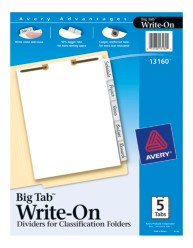 Avery® Big Tab™ Write-On Dividers for Classification Folders 13160, Application Image