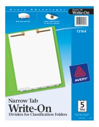 Avery® Write-On Dividers for Classification Folders 13164, Packaging Image