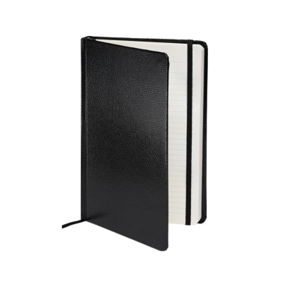 "MSHO - Shagreen Journal 5-1/2""x8-1/2"", Black 14873"