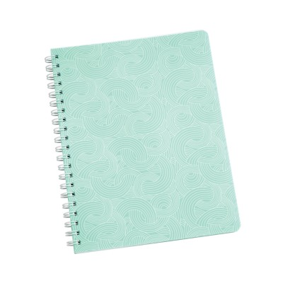 "MSHO - Spiral Notebook, 8-1/2""x11"", Textured Design, Blue 14880"