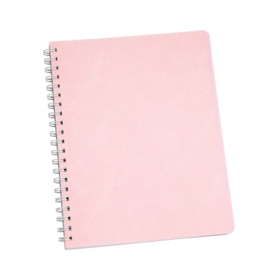 "MSHO - Spiral Notebook, 8-1/2""x11"", Textured Design, Pink 14882"