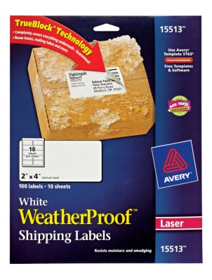 Weather Proof Mailing Labels 15513