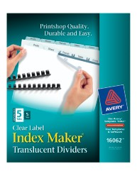 Avery® Index Maker® Unpunched  Clear Label Dividers 16062, Packaging Image