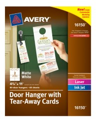 Avery® Door Hanger with Tear-Away Cards 16150, Packaging Image