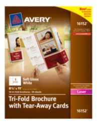Avery® Tri-Fold Brochure with Tear-Away Cards 16152, Packaging Image