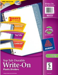 Avery Top-Tap Durable Write-On Dividers 16173 Packaging Image