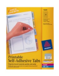 Printable Tabs, Self-Adhesive