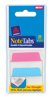2x1.5 NoteTab Neon Assorted 20 Pack 16288