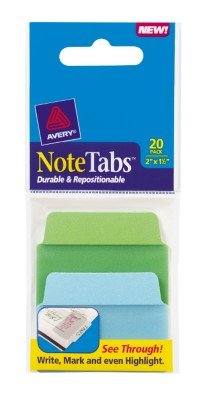 2x1.5 NoteTab Cool Assorted 20 Pack 16289
