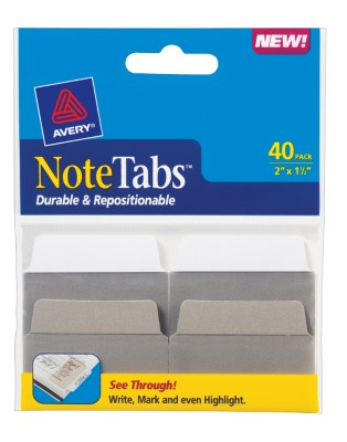 2x1.5 NoteTab Taupe Assorted 40 Pack 16291