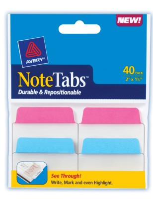 2x1.5 NoteTab Neon Assorted 40 Pack 16293