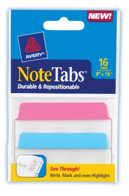 3x1.5 NoteTab Neon Assorted 16 Pack 16299