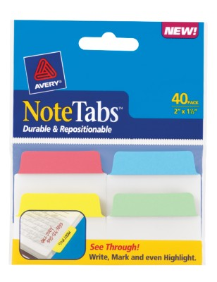 2x1.5 NoteTab Asst Primary 40PK 16375