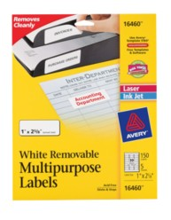 Avery® Removable Multipurpose Labels 16460, Packaging Image