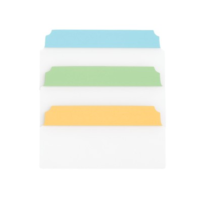 "MSHO NOTETABS CLASSIC 3""X1.5"" (8 CUSTOM BLUE/CLEAR, 8 CUSTOM GREEN/CLEAR, DARK YELLOW/CLEAR) 16480"
