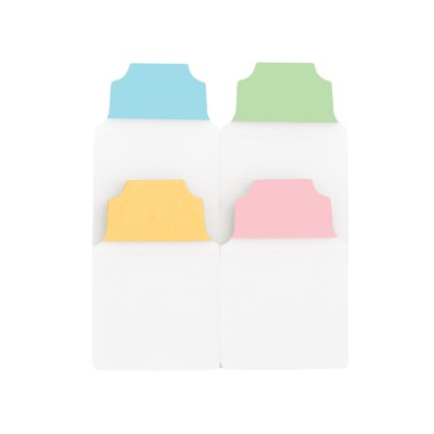 "MSHO NOTETABS CLASSIC 1""X1.5"" (BLUE/CLEAR, GREEN/CLEAR, DARK YELLOW/CLEAR, PINK/CLEAR) 16484"
