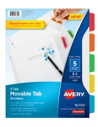 Avery® Movable Tab Dividers 16750,  Packaging Image