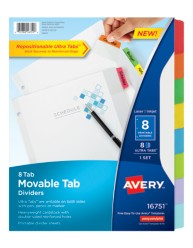 Avery® Movable Tab Dividers 16751,  Packaging Image