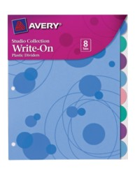 Studio Collection Write-On Dividers Bubbles 17173, Application Image