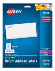 Avery Easy Peel Address Labels 18294
