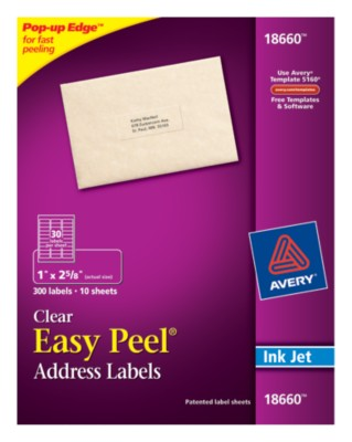 Easy Peel Clear Address Labels 18660