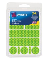 Avery® Permanent Reflective Stickers 19775, Packaging Image