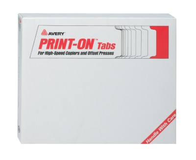 Tab Dividers for Copiers, Double Reverse Collated 20405