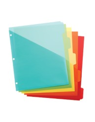 "Martha Stewart Home Office™ with Avery™ Plastic  Dividers with Pockets 21152, Clear, 9-3/4"" x 11-1/4"", Application Image"