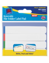 Avery Removable File Folder Label Pad 22027 Packaing Image