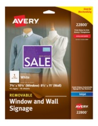 Avery Window and Wall Signage 22800 Packaging Image