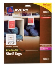 Avery Removable Shelf Tags 22803 Packaging Image