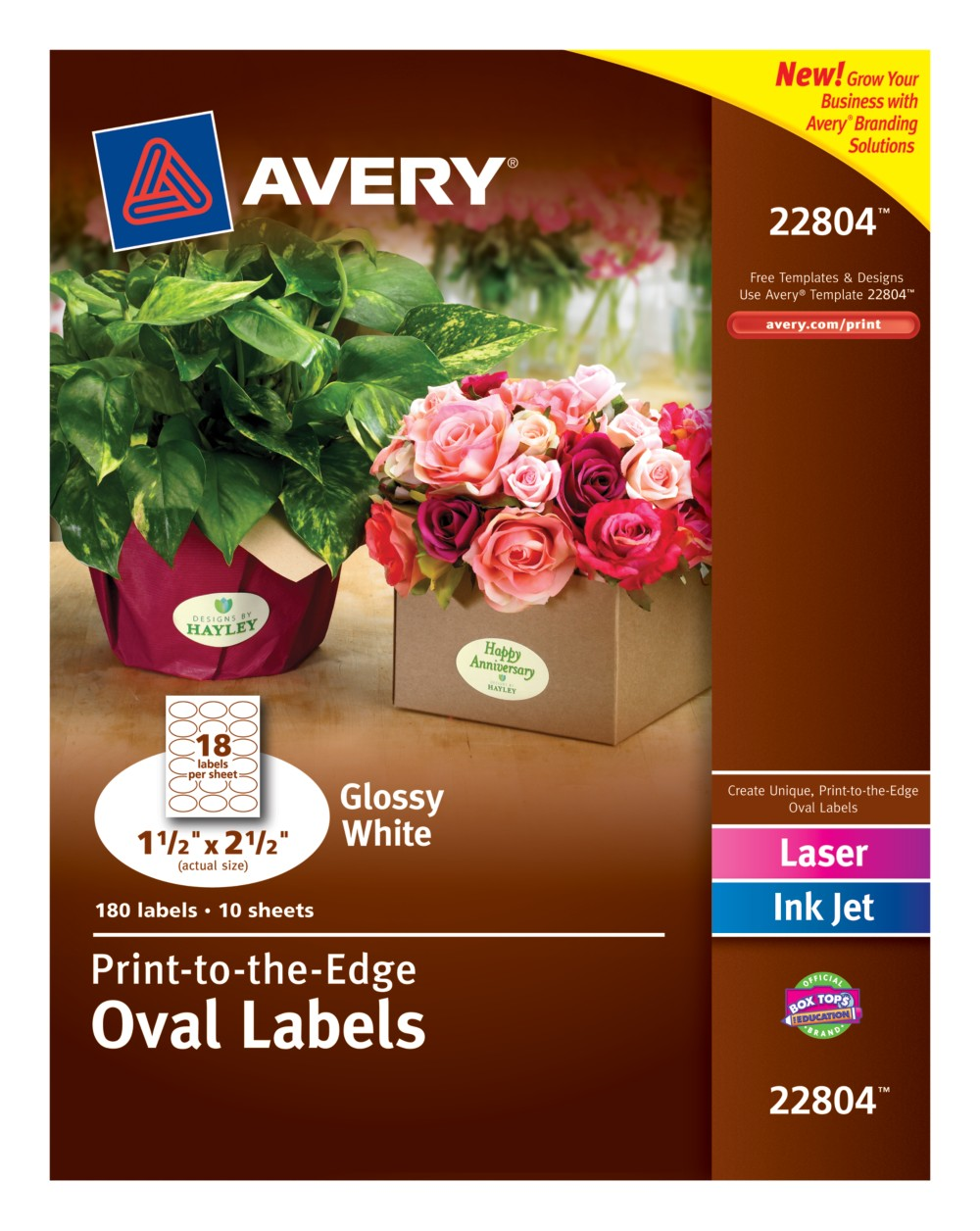 Oval Labels 22804